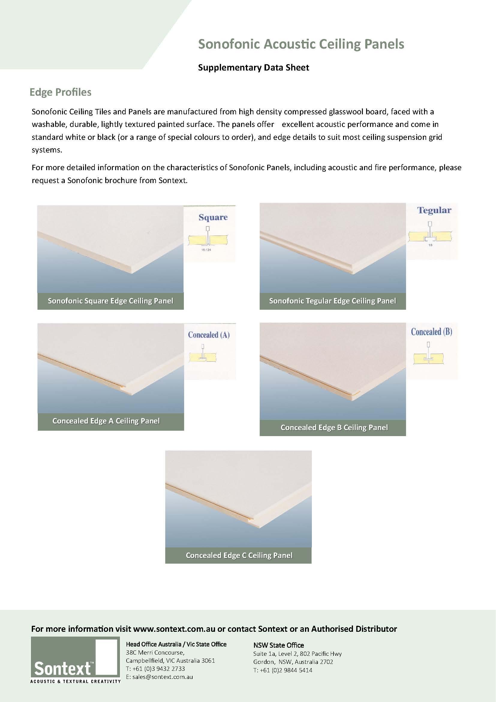 Sonofonic Edge Profiles
